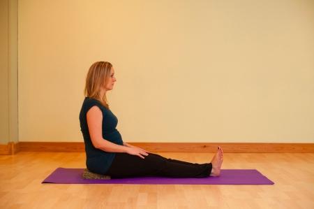 dandasana prenatal yoga