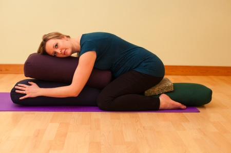 child's pose prenatal yoga